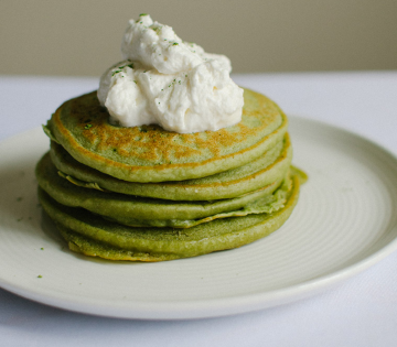 Green Tea Ricotta Pancakes