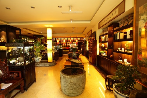 China tea house in store