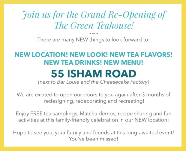 Grand Re-Opening info