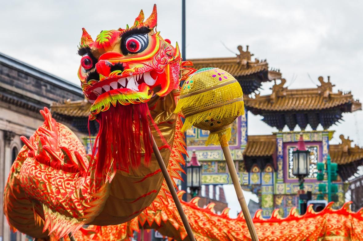 Dragon Dance in Chinatown